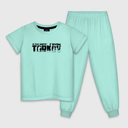 Пижама хлопковая детская ESCAPE FROM TARKOV цвета мятный — фото 1