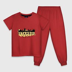 Пижама хлопковая детская Стамбул - Турция цвета красный — фото 1