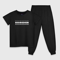 Пижама хлопковая детская Rammstein Shadows цвета черный — фото 1