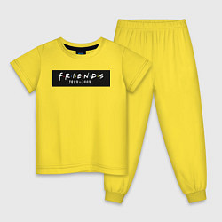 Пижама хлопковая детская Television Series Friends цвета желтый — фото 1