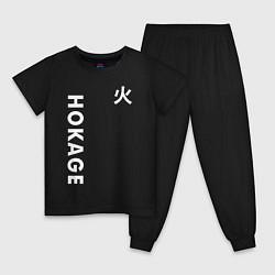 Пижама хлопковая детская NARUTO HOKAGE НА СПИНЕ цвета черный — фото 1