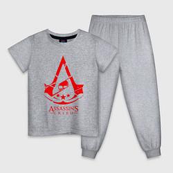 Пижама хлопковая детская ASSASSINS CREED цвета меланж — фото 1