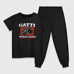 Пижама хлопковая детская Gatti цвета черный — фото 1