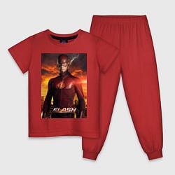 Пижама хлопковая детская The Flash цвета красный — фото 1
