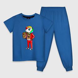 Пижама хлопковая детская Такеши 6ix9ine цвета синий — фото 1