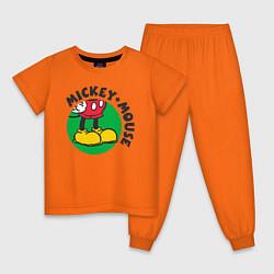 Пижама хлопковая детская Mickey Mouse цвета оранжевый — фото 1