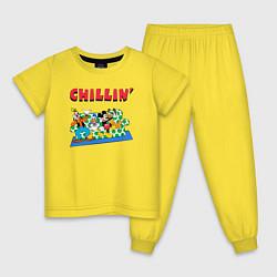 Пижама хлопковая детская Chillin DIsney цвета желтый — фото 1