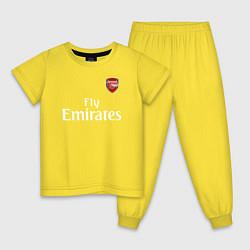 Пижама хлопковая детская ARSENAL цвета желтый — фото 1