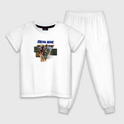 Пижама хлопковая детская Metal Gear цвета белый — фото 1