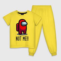Пижама хлопковая детская Among Us, Not Me! цвета желтый — фото 1