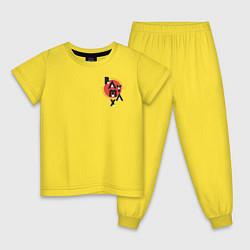 Пижама хлопковая детская Baymax цвета желтый — фото 1