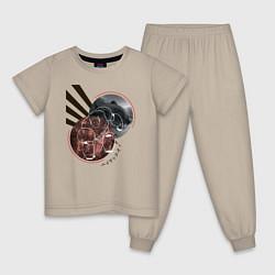 Пижама хлопковая детская Baymax Big Hero 6 цвета миндальный — фото 1