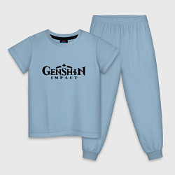 Пижама хлопковая детская Genshin Impact Logo Z цвета мягкое небо — фото 1