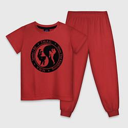 Пижама хлопковая детская MMA цвета красный — фото 1