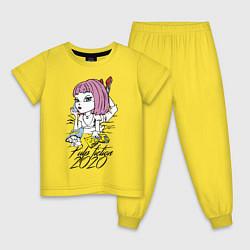 Пижама хлопковая детская Криминальное чтиво 2020 цвета желтый — фото 1