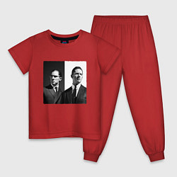 Пижама хлопковая детская Tom hardy цвета красный — фото 1