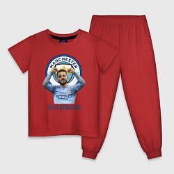 Пижама хлопковая детская Silva Bernardo Манчестер Сити цвета красный — фото 1