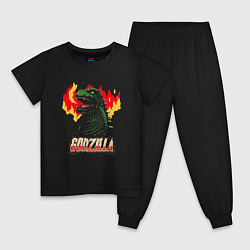 Пижама хлопковая детская GODZILLA цвета черный — фото 1