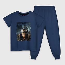 Пижама хлопковая детская Megadeth Poster Z цвета тёмно-синий — фото 1