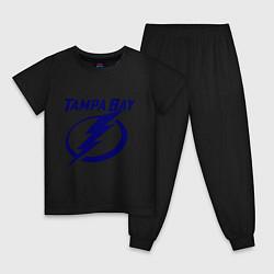 Пижама хлопковая детская HC Tampa Bay цвета черный — фото 1