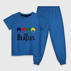 Пижама хлопковая детская The Beatles Heads цвета синий — фото 1