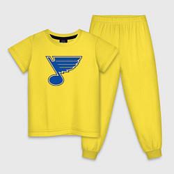 Пижама хлопковая детская St Louis Blues цвета желтый — фото 1