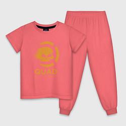 Пижама хлопковая детская QuaD: Quick and Deadly цвета коралловый — фото 1