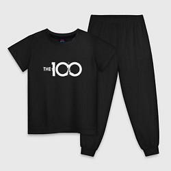Пижама хлопковая детская The 100 цвета черный — фото 1
