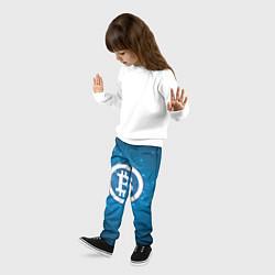 Брюки детские Bitcoin Blue цвета 3D — фото 2