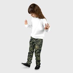 Брюки детские Stone Island: Green Camo цвета 3D — фото 2