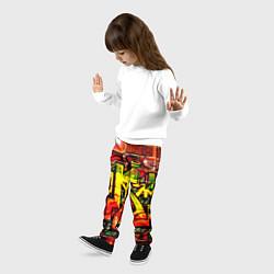Брюки детские Red Graffiti цвета 3D-принт — фото 2