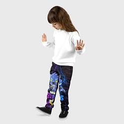 Брюки детские BRAWL STARS LEON ОБОРОТЕНЬ цвета 3D-принт — фото 2