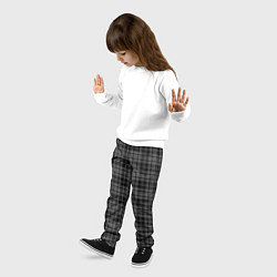 Брюки детские Шотландская клетка цвета 3D — фото 2