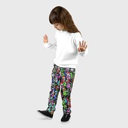 Брюки детские Among Us С Новым Годом! цвета 3D — фото 2