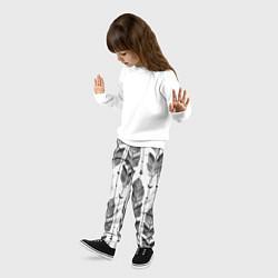 Брюки детские Перья цвета 3D — фото 2