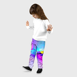 Брюки детские Абстракция цвета 3D — фото 2