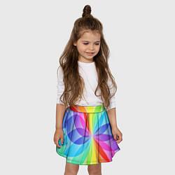 Юбка-солнце для девочки Радуга цвета 3D — фото 2