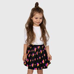 Юбка-солнце для девочки LIKEE - Сердечки цвета 3D — фото 2