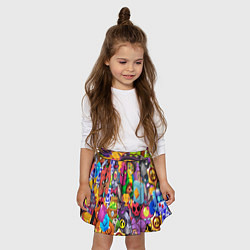 Юбка-солнце для девочки BRAWL STARS ALL цвета 3D — фото 2