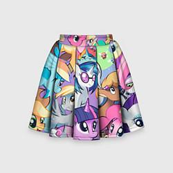 Юбка-солнце для девочки My Little Pony цвета 3D-принт — фото 1