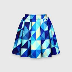 Детская юбка-солнце Синяя геометрия