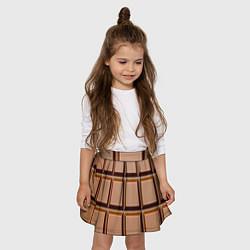 Юбка-солнце для девочки Шоколад цвета 3D — фото 2