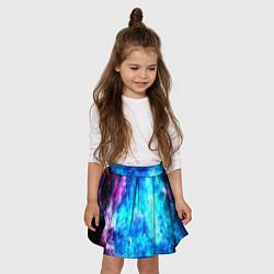 Юбка-солнце для девочки Голубая вселенная цвета 3D — фото 2