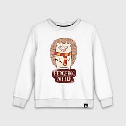 Свитшот хлопковый детский Еж Поттер цвета белый — фото 1