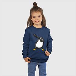 Свитшот хлопковый детский DAB Pinguin цвета тёмно-синий — фото 2