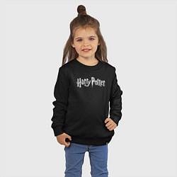 Свитшот хлопковый детский Harry Potter цвета черный — фото 2