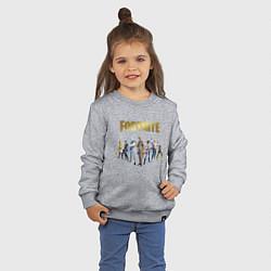 Свитшот хлопковый детский FORTNITE 2 SEASON Часть 2 цвета меланж — фото 2