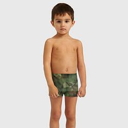 Плавки для мальчика Полигональный камуфляж цвета 3D — фото 2
