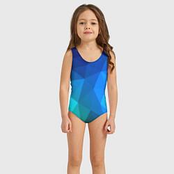Купальник для девочки Fight Polygon цвета 3D-принт — фото 2