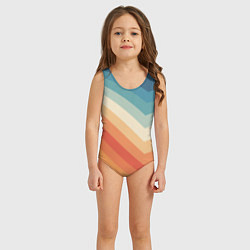 Купальник для девочки Полосы цвета 3D — фото 2